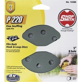 "Shop Smith 3Pk 5"" 220G Sand Disc"