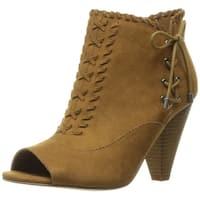 Indigo Rd. Womens finn Fabric Open Toe Ankle Fashion Boots