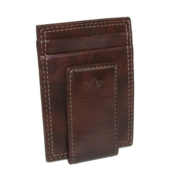 Dockers Men's Leather Slim Front Pocket Wallet with Magnetic Money Clip - One size