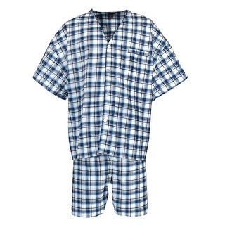 Botany 500 Men's Big and Tall Short Sleeve Knee Length Pajama Set (More options available)