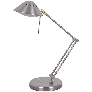 Living Accents 16534-006 Halogen Desk Lamp, Brush Nickel