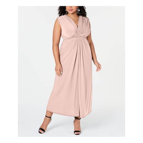 LOVE SQUARED Pink Sleeveless Maxi Fit + Flare Dress Size 1X