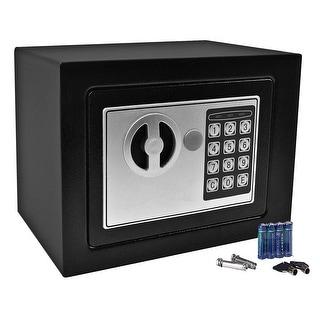 Gymax Durable Digital Electronic Safe Box Keypad Lock Black
