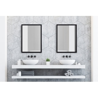 Link to Kate and Laurel Evans Framed Floating Wall Mirror Similar Items in Rectangular Mirrors
