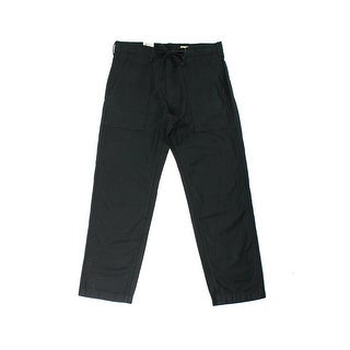 Levi's NEW Solid Deep Men's Black Size 32X32 Drawstring Straight Pants