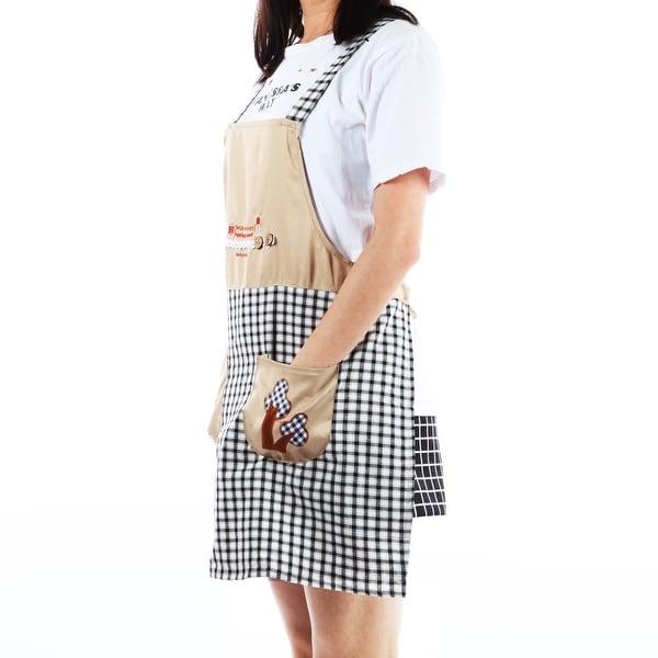 VECELO Commercial Bib Aprons for Women
