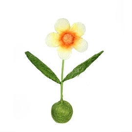 """19"""" Green Orange and Yellow Spring Floral Table Top Decoration"""