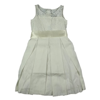 Lauren Ralph Lauren Girls Lace Pleated Special Occasion Dress - 6