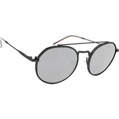 803c46da60 Peppers Fly Wheel Sunglasses Matte Black Smoke Polarized Silver Flash Mirror  - US One
