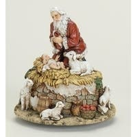 Joseph's Studio Kneeling Santa with Jesus Musical Christmas Figure