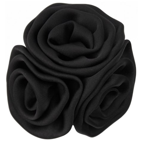 Men's Solid Color Formal Trio Cluster Flower Lapel Pin - One Size
