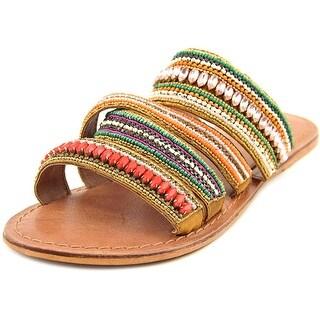 Mia Belissa Women Open Toe Canvas Multi Color Slides Sandal