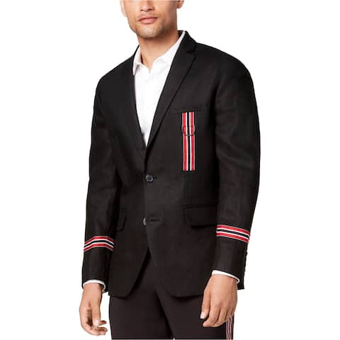I-N-C Mens Track Star Two Button Blazer Jacket