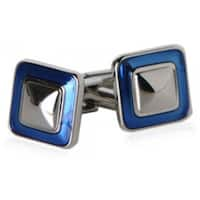 Durable Square Shaped Blue Cufflinks
