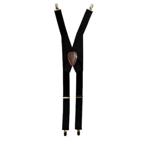 Men's X-back Style Gold Toned Metal Clip-ends Suspenders
