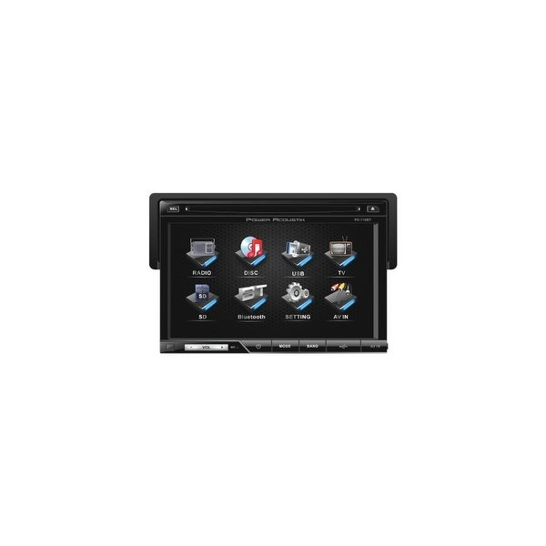 PowerAcoustic POWPD710BB 7 Inch Single-DIN In-Dash TFT/LCD Touchscreen DVD Receiver