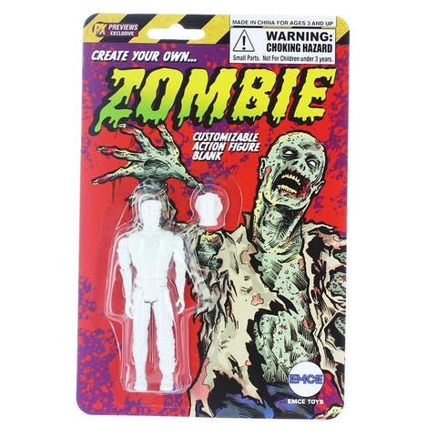 """Create Your Own Zombie Customizing Blank 4"""" Action Figure - Multi"""