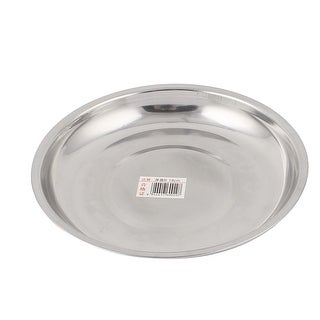 Unique Bargains Round Stainless Steel Dinner Plate Dish Food Fruit Holder Container Tray 17cm  sc 1 st  Overstock & Unique Bargains Plates For Less | Overstock