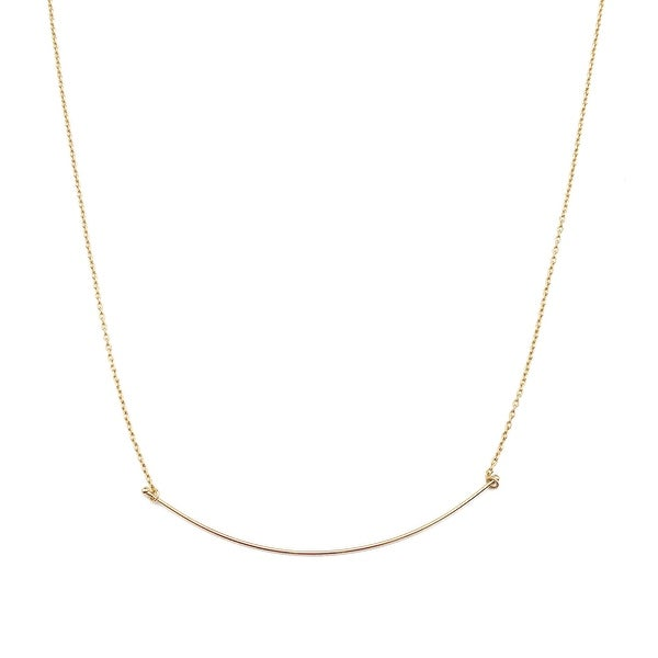 Honeycat Willow Curve Bar Necklace (Delicate Jewelry)