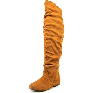 Nature Breeze Vickie Hi Women Round Toe Synthetic Over the Knee Boot