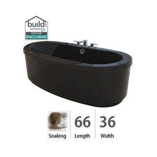 "Jacuzzi BRF6636BCXXXX Bravo 66"" Soaking Freestanding Bathtub with Center Drain"
