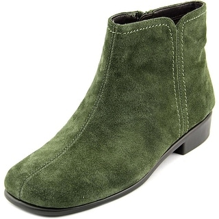 Aerosoles Duble Trouble Women Square Toe Suede Green Ankle Boot