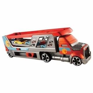 Mattel Hot Wheels Blastin Rig Car Hauler with 3 Cars, Diecast