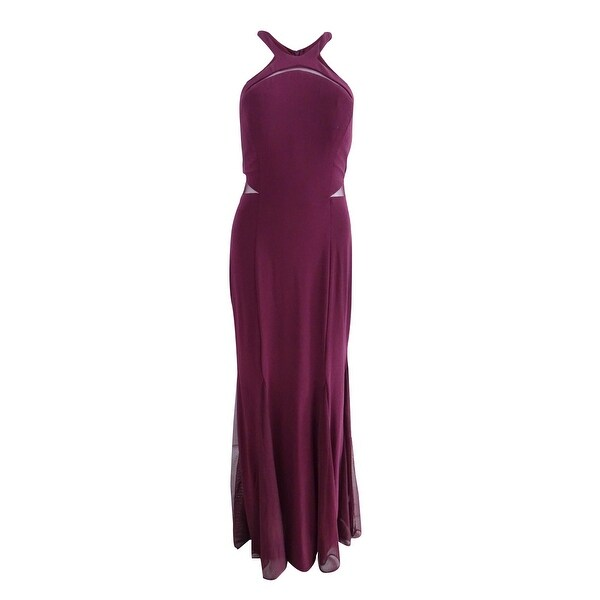 c4a66f50323cf Shop Nightway Women's Halter Mermaid Dress - Wine - Free Shipping On Orders  Over $45 - Overstock - 25750504