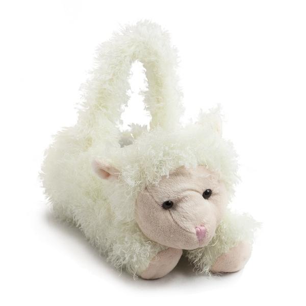 Springtime Party Basket Plush White Lamb