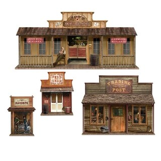 Club Pack of 48 Wild West Town Cowboy Themed Wall Decorations 5.5'