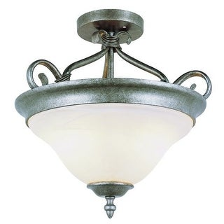 Trans Globe Lighting 6390 Two Light Down Lighting Semi Flush Ceiling Fixture from the New Century Collection