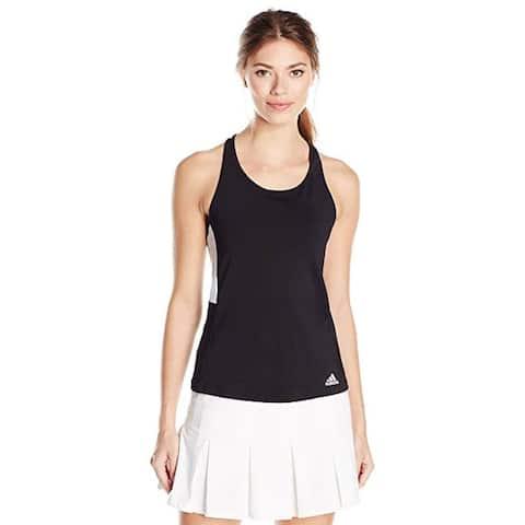 adidas Women's Tennis Essex Tank Top, Black/Black, Medium