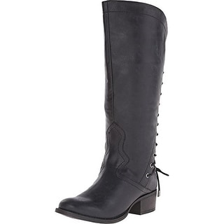 Madden Girl Womens Derail Mid-Calf Boots Faux Leather Engineer