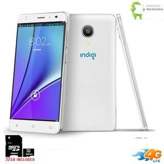 "Indigi UNLOCKED 5.0"" Android 6.0 DualSim 4G Lte Smart Phone AT&T Straight Talk + 32gb - White"