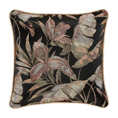 Five Queens Court Martina 20 Inch Square Decorative Throw Pillow