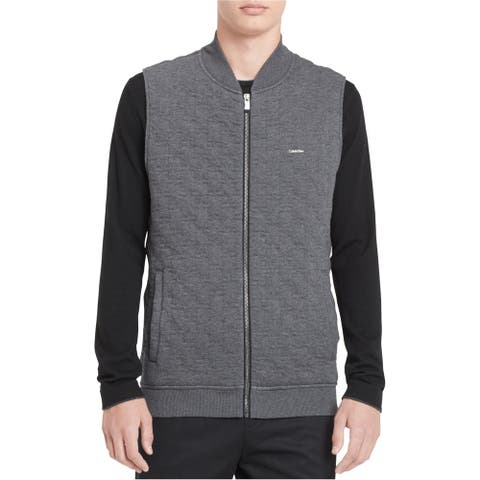 Calvin Klein Mens Full-Zip Quilted Vest