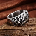 Vienna Jewelry Abstract Quads Design Stainless Steel Ring - Thumbnail 2
