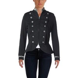 Denim & Supply Ralph Lauren Womens Double-Breasted Blazer French Terry