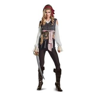 Womens Captain Jack Sparrow Classic Pirate Costume