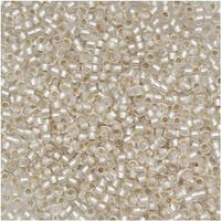 Toho Round Seed Beads 15/0 21F 'Silver Lined Frosted Crystal' 8g