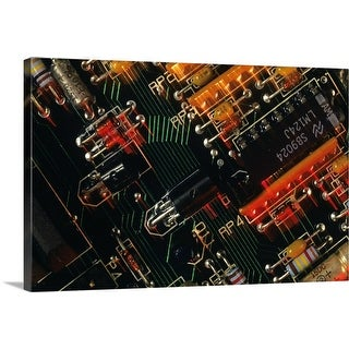 """Electronic manufacturing micro processing, USA, overhead view"" Canvas Wall Art"