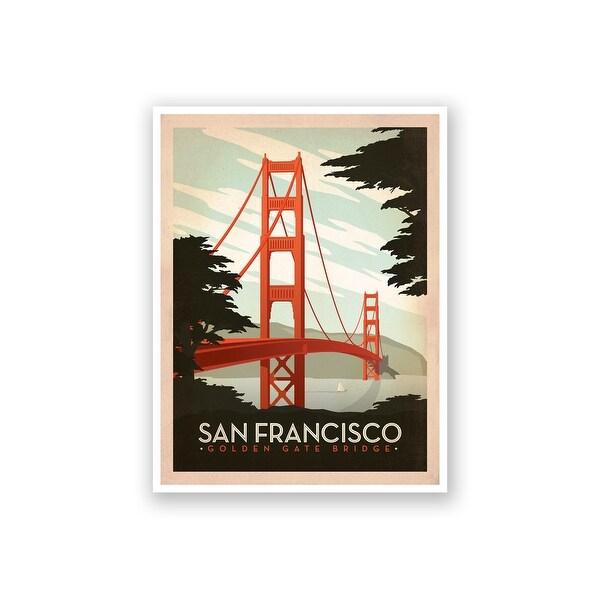 San Francisco Golden Gate - Anderson Design Group - 18x14 Matte Poster Print Wall Art