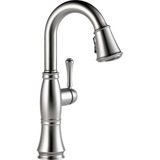 Delta 9997-DST Cassidy Pull-Down Bar/Prep Faucet with Magnetic Docking Spray Head - Includes Lifetime Warranty