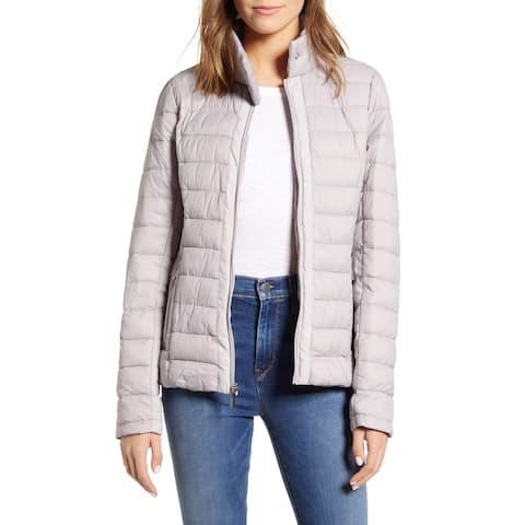 Marc York Womens Packable Jacket Purple Size Large L Puffer Full-Zip
