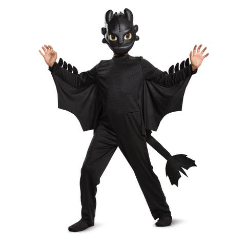 How to Train Your Dragon Toothless Classic Child Costume - Black