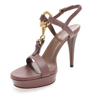 Gucci Women's Horsebit Leather Platform Sandals Tan - 8.5 us (38.5 eur)