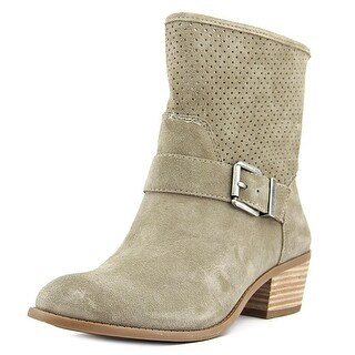 Sole Society SOLA Women Apron Toe Suede Tan Boot