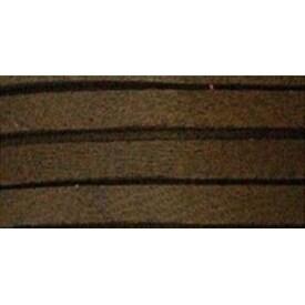 """Chocolate - Deerskin Lace .1875""""X2yd Packaged"""