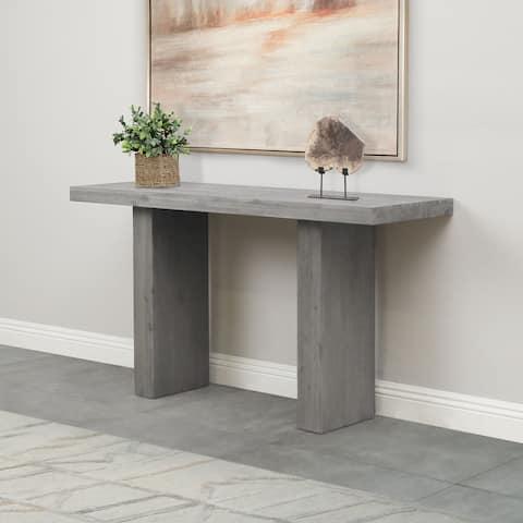 Abbyson Felix Acacia Wood Console Table