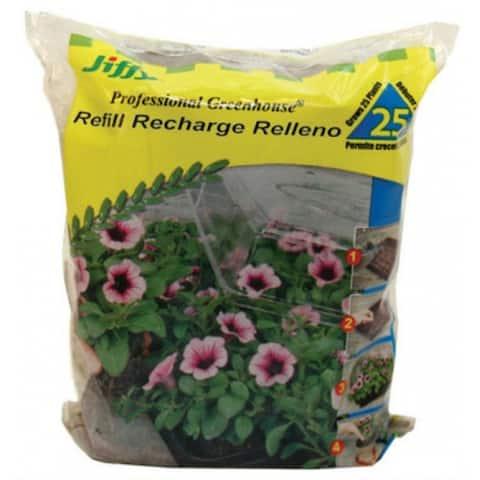 Jiffy J4R25 Professional Greenhouse Peat Pellet, 25-Pack
